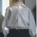 Fehér ing, Ruha, divat, cipő, Gyerekruha, Varrás, Klasszikus, könnyen kezelhető mégis elegáns viselet az ünnepekre. Hagyományos ingfazon, elején zseb ..., Meska