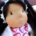 Lizi 35 cm-es lány baba / waldorf stílus / gyermek játék / természetes, gyapjú, pamut, Játék, Baba, babaház, Varrás, Lizi egy 35 centis lány waldorf ihletésű baba.   Örök játék, teste pamutból készül és gyapjúval van..., Meska