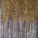 Erdő, Dekoráció, Képzőművészet, Kép, Festmény, Festészet, 60cmx80cm feszített vászonra készült alkotás. Akrilfestékkel festettem,vegyes technikát alkalmaztam..., Meska