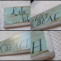 BEACH Kézzel festett dekor tábla, Dekoráció, Kép, , Meska