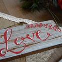 Romantikus kézzel festett dekor tábla, Dekoráció, Dísz, Kép, , Meska