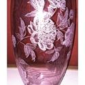 Virágot a virágnak, Dekoráció, Otthon, lakberendezés, Kaspó, virágtartó, váza, korsó, cserép, Üvegművészet, 35cm magas, 17cm átmérőjű  üveg váza. Díszíti a lakást, vagy ajándéknak is remek szülinapra,névnapr..., Meska