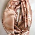 Csősál, Ruha, divat, cipő, Kendő, sál, sapka, kesztyű, Sál, Szaténselyem körsál. Mérete: 145x26 cm duplán., Meska
