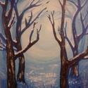 Téli álom, Képzőművészet , Festmény, Akril, Festészet, Akril festmény 18x24cm méretű kartonvászonra festett., Meska