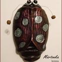 Metál BOGARAM, Baba-mama-gyerek, Dekoráció, Gyerekszoba, Baba falikép, Kerámia, Hargitai agyagból készült 17cm x 10cm 239g vésett festett lakkozott kerámia. Üde színfoltja kertnek..., Meska