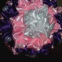 Menyasszonyi, esküvői örökcsokor, Esküvő, Mindenmás, Dekoráció, Esküvői csokor, Virágkötés, Varrás, Minden egyes rózsát én készítettem szatén szalagból. Teljes mértékben saját készítésű a csokor. 40 ..., Meska