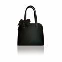 Klasszikus fekete táska masnival , Táska, Válltáska, oldaltáska, Bőrművesség, Varrás,   A klasszikus forma sohasem megy ki a divatból. Eleganciát visz a hétköznapokba. A/4- es méretű kö..., Meska