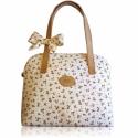 Landhaus stílusú nyári táska masnival , Táska, Válltáska, oldaltáska, Bőrművesség, Varrás, Vidám könnyű nyári táskát készítettem, mely virágba borítja a hétköznapokat :) Egyszerű vonalvezeté..., Meska
