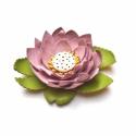 Indiai lótusz- virág valódi bőrből, Ékszer, óra, Otthon, lakberendezés, Bross, kitűző, Bőrművesség, Ékszerkészítés, A növény az ősi keleti vallásokban a megtisztulás és az újjászületés jelképe.  Virága a buddhizmus ..., Meska