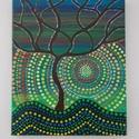 Életfa-Aboriginal festmény , Képzőművészet, Dekoráció, Festmény, Akril, Festészet, 25x30-as feszített vászonra festett akril festmény, amely az ausztrál őslakosok máig használt egyik..., Meska