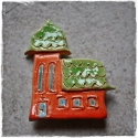 Mese templom mágnes, Konyhafelszerelés, Dekoráció, Hűtőmágnes, , Meska