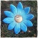 Mosolygó virág kitűző kerámia, Dekoráció, Otthon, lakberendezés, Baba-mama-gyerek, Kerti dísz, Kerámia, Vidám leszúrható mosolygó kerámia virágok, a képeken látható színekben, kétféle formában.   Átmérő: ..., Meska
