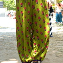 Hárem nadrág, Ruha, divat, cipő, Női ruha, Nadrág, Varrás, Bő nadrág kétféle könnyű indiai 100% pamut anyagból.  Derekea gumis, az alja kötős.  Rendelésre kés..., Meska