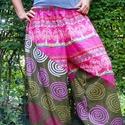 Hárem nadrág, Ruha, divat, cipő, Női ruha, Nadrág, Varrás, Bő nadrág kétféle könnyű indiai 100% pamut anyagból.  Dereka, alja gumis.  Rendelésre készül, méret..., Meska