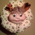 Nyuszi manó virágban, Dekoráció, Otthon, lakberendezés, Húsvéti apróságok, Kaspó, virágtartó, váza, korsó, cserép, Virágkötés, Varrás, Nyuszi manó, virág közepén vigyáz a kis tojás fészekre :) Dekorációs textil virág, manóval dísznek,..., Meska