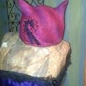 Cica nemezelt kalap, Ruha, divat, cipő, , Meska