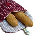 Francia kenyértartó, Dekoráció, Konyhafelszerelés, Otthon, lakberendezés, Kenyértartó, Varrás, A kenyértartó kivül és belül is pamutvászonból készült, tartását vastag vatelin adja. Méretei: 51x2..., Meska