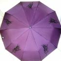 """Pillangós lila \\\""""tetovált\\\"""" esernyő, Mindenmás, Falmatrica, Fotó, grafika, rajz, illusztráció, A képen látható lila esernyőt magam festettem gyönyörű pillangós rajzzal. Mert ugye sokszor nem tal..., Meska"""