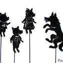 Árnyékbáb: A három kismalac, Baba-mama-gyerek, Játék, Gyerekszoba, Báb, Papírművészet, Árnyékbábok A három kismalac című meséhez.  Az árnyékbábozás szokatlan, izgalmas játék, s nem kell ..., Meska