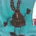 Neked énekelek. Gyermek póló, Ruha, divat, cipő, Gyerekruha, Varrás, Patchwork, foltvarrás, Textil applikációval díszített póló. Megbeszélés szerinti mintával és méretben készítem el. , Meska