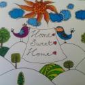 HomeSweetHome, Dekoráció, Otthon, lakberendezés, Kép, Falikép, , Meska