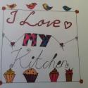 LoveMyKitchen, Dekoráció, Otthon, lakberendezés, Kép, Falikép, , Meska