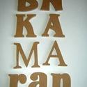 BETŰ FELIRAT natúr MDF betűk, Baba-mama-gyerek, Dekoráció, Otthon, lakberendezés, Gyerekszoba, Famegmunkálás, Festett tárgyak,   12 mm vastag natúr MDF lapból készült gyerekszobai vagy egyéb felirat, név  gyermeked szobájának ..., Meska