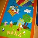"""Gyermektakaró ágytakaró  """" Hőlégballonos """", Baba-mama-gyerek, Gyerekszoba, Falvédő, takaró, Patchwork, foltvarrás, Varrás, Rendelhető patchwork ágytakaró a Te, illetve gyermeked igénye szerint ! :)  Ez a takaró már gazdára..., Meska"""