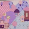 Gyermek falvédő (70x200) Lila-rózsaszín, Baba-mama-gyerek, Gyerekszoba, Falvédő, takaró, Falvédő, Varrás, Egyedi gyermekfalvédő (kb. 70x200 cm) pamutvászon, vatelin betéttel, tűzéses technikával. Színvilág..., Meska