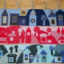 Gyermek falvédő (65x75) Piros, Baba-mama-gyerek, Gyerekszoba, Falvédő, takaró, Falvédő, Varrás, Egyedi gyermekfalvédő (kb. 65x75 cm) pamutvászon, vatelin betéttel, tűzéses technikával. Színvilág,..., Meska