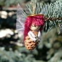 Pöttöm termésangyalka, Dekoráció, Karácsonyi, adventi apróságok, Karácsonyfadísz, Karácsonyi dekoráció, Mindenmás, Virágkötés, A karácsonyfa legaranyosabb dísze.  Saját ötletem alapján készítettem ezeket az angyalkákat.Kezükbe..., Meska