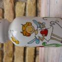 tündéres váza, Dekoráció, Otthon, lakberendezés, Kaspó, virágtartó, váza, korsó, cserép, Festett tárgyak, Kerámia, Alföldi porcelán, kézzel festett váza. 15 cm magas, 7,5 cm az átmérője., Meska