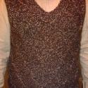Rácsos mellény (rendelésre), Férfiaknak, Ruha, divat, cipő, Férfi ruha, Kötés, Pihe-puha, meleg barna és fehér sodort gyapjúfonalból készült rácsmintás férfi kötött mellény, XL-es..., Meska