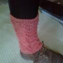 rosa lábszárvédő, Ruha, divat, cipő, Női ruha, Kötés, Duplaszálas, csavart mintás 24 cm hosszú lábszárvédő. A termék azonnal elvihető. , Meska