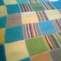 patchwork kötött takaró (csak rendelésre), Otthon, lakberendezés, Dekoráció, Baba-mama-gyerek, Lakástextil, Takaró, ágytakaró, Kötés, Horgolás, 150cm x 200cm-es kézzel kötött patchwork takaró. Mivel a takaró elkészítése idő és fonaligényes, ez ..., Meska