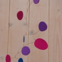 Gördülő kavicsok - pillekönnyű forgó kavicsformákkal, Dekoráció, Baba-mama-gyerek, Otthon, lakberendezés, Mindenmás, Mindenmás, Papírművészet, Forgónkat a kavicsok változatos formái ihlették.  A forgó kb 25 x 30 cm-es, damilon függeszthető fe..., Meska
