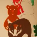 Kerekerdő - pillekönnyű babaforgó az erdő lakóival, Baba-mama-gyerek, Dekoráció, Mindenmás, Otthon, lakberendezés, Mindenmás, Forgónk az erdő lakóival ismerteti meg a gyerekeket. Bagoly, róka, medve, borz, süni, nyuszi, gomba..., Meska
