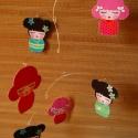 Japán babaház - pillekönnyű forgó japán kawaii lánykákkal, Baba-mama-gyerek, Mindenmás, Dekoráció, Mindenmás, Ez a forgó designer textilből készült. Hat különböző japán kawaii lányka található rajta, a formák ..., Meska