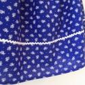 Kékfestő 4.-női szoknya, Ruha, divat, cipő, Női ruha, Szoknya, Varrás, Kékfestő mintájú női szoknya, fehér farkasfoggal. Dereka gumírozott, 60 cm, de adott méretre állíto..., Meska