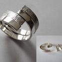 DuplaCsavar gyűrű, Ékszer, óra, Gyűrű, Ötvös, Ékszerkészítés, Ez egy két darabból álló, egymásba illeszthető gyűrű, melynek darabjait egymástól elcsavarva változ..., Meska
