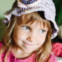lila akác kalap, Baba-mama-gyerek, Ruha, divat, cipő, Kendő, sál, sapka, kesztyű, Sapka, Horgolás, Ez a kalapka lila színátmenetes fonalból, 100 % pamut fonalból készült. Igen különleges nyári fejfe..., Meska
