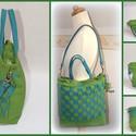 BŐRTÁSKA: zöld-kék mozaik bőrtáska AKCIÓS, Táska, Ruha, divat, cipő, Válltáska, oldaltáska, Női ruha, Varrás, ELKELT. Hasonló rendelhető, szín- és méretegyeztetés után!   Új fazon, BEVEZETŐ AKCIÓS ÁRON!  A moz..., Meska