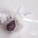 Juliette esküvői kollekció, Esküvő, Esküvői ékszer, Esküvői csokor, Hajdísz, ruhadísz, Virágkötés, A kollekció tartalma egy menyasszonyi csokor, egy vőlegény bokréta, 2 db tanú bokréta, 2 db örömapa..., Meska