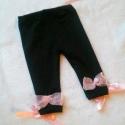 Újszülött  nadrág/ leggings  , Baba-mama-gyerek, Ruha, divat, cipő, Gyerekruha, Baba (0-1év), Horgolás, Varrás,       Újszülött nadrág / leggings szatén, és organza masnikkal díszítve, derékbősége állítható Mére..., Meska