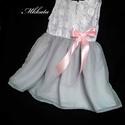 Alkalmi ,keresztelő kislány ruha 80-92 méret , Baba-mama-gyerek, Ruha, divat, cipő, Gyerekruha, Baba (0-1év), Varrás,   Alkalmi-   keresztelő kislány ruha Felső része   csipke , szoknya rész tüll- muszlin   Színe : fe..., Meska