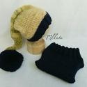 Kötött baba sapka+nadrág szett  0-2 hónapos méret , Baba-mama-gyerek, Ruha, divat, cipő, Gyerekruha, Baba (0-1év), Kötés, Kézzel kötött  babasapka+nadrág  szett - Egyedi darab  Mérete :  56- os   Sapka : 35-39 cm- es fejm..., Meska