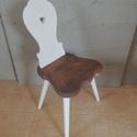 Támlás szék, Bútor, Szék, fotel, , Meska