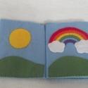 Időjárás textilkönyv, Baba-mama-gyerek, Játék, Gyerekszoba, Készségfejlesztő játék, Varrás, Egyedi mesekönyv pihe-puha filcből, 100%-ban kézzel varrott technikával. Az egyes lapokon különféle ..., Meska