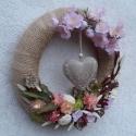 Virágban a rét,a fák ...ajtó koszorú, Dekoráció, Húsvéti apróságok, Ünnepi dekoráció, Dísz, Mindenmás, Virágkötés, De várom...amikor a méhek zümmögnek a rózsaszínűbe öltözött fák koronáiban és én nem tudom eldönten..., Meska