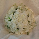 Apró csillag-rózsa csokor, Esküvő, Esküvői csokor, Virágkötés, Kedves apró csillagvirág tetszett meg először-szerény,romantikus,nem hivalkodó.A virágok királynőjé..., Meska